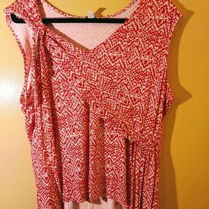 Burnt red print shirt Cato brand